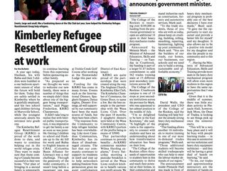 Kimberley Refugee Resettlement Group Still At Work.