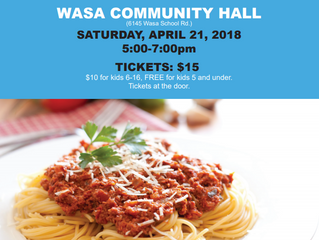 3rd Annual Spaghetti Supper.