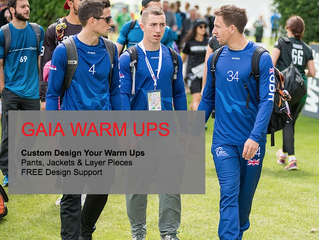 GAIA Warm Up Pants, Jackets and Layer Pieces.
