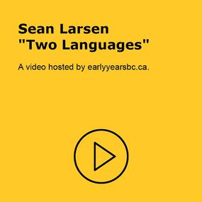 Sean Larsen - Two Languages Video