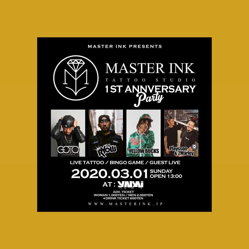 MASTER INK 1st ANNIVERSARY 名古屋