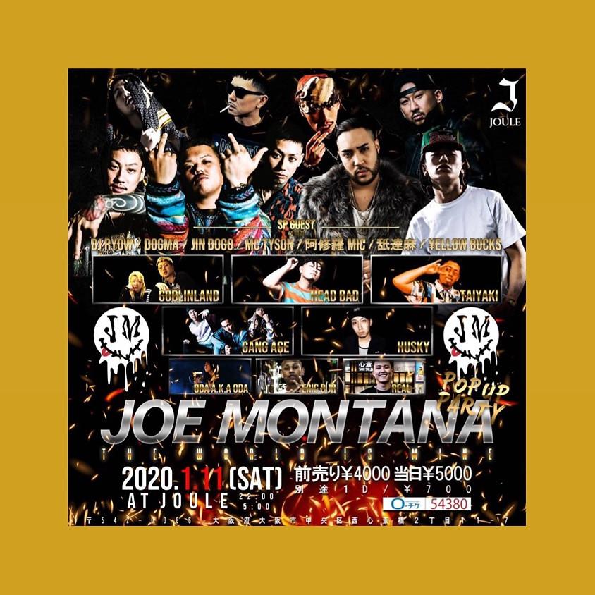 JOE MONTANA POP UP 大阪