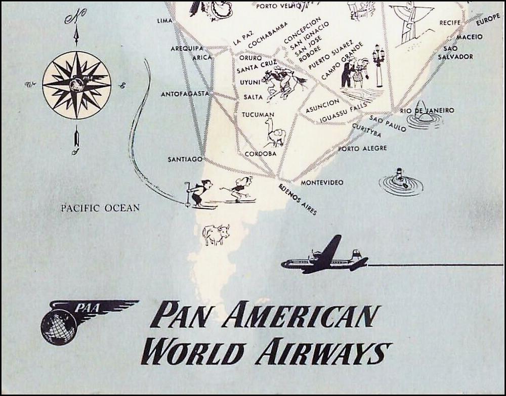 South America destination map