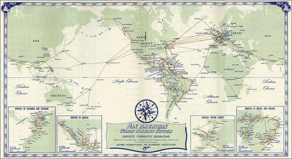 1955 World System Map
