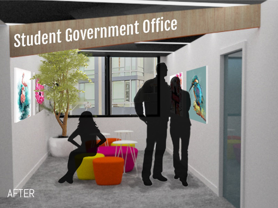 Student Goverment Office waiting lounge: After