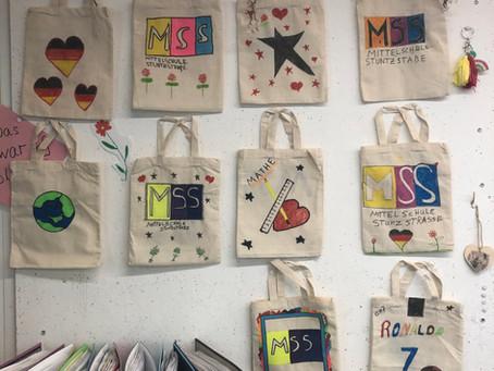 Nachhaltige MSS-Taschen von der Klasse 7/8 D
