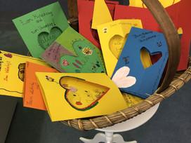 Muttertags- und Vatertagskarten der Klasse 7/8 D