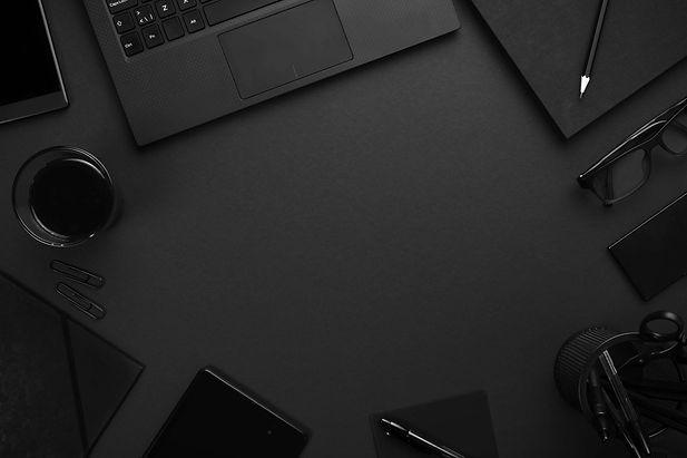 Digital Marketing Agency Black Workspace