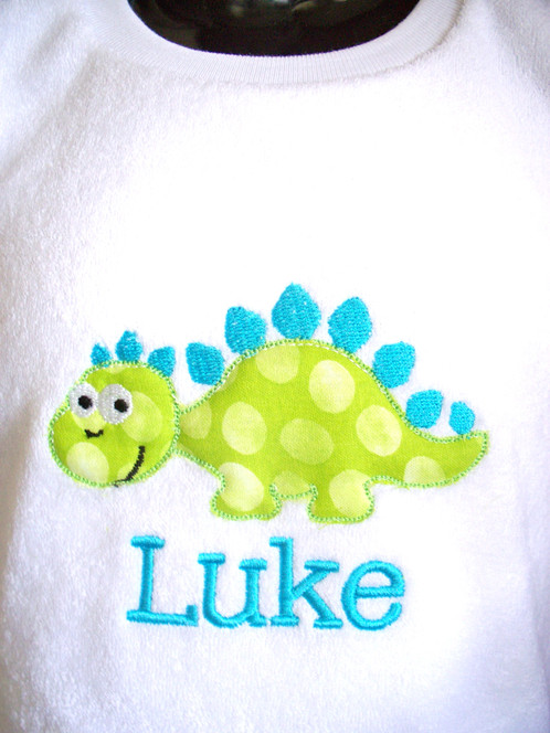Personalised baby bib dinosaur personalised gifts baby gifts perfect gift for new baby and keepsake negle Image collections