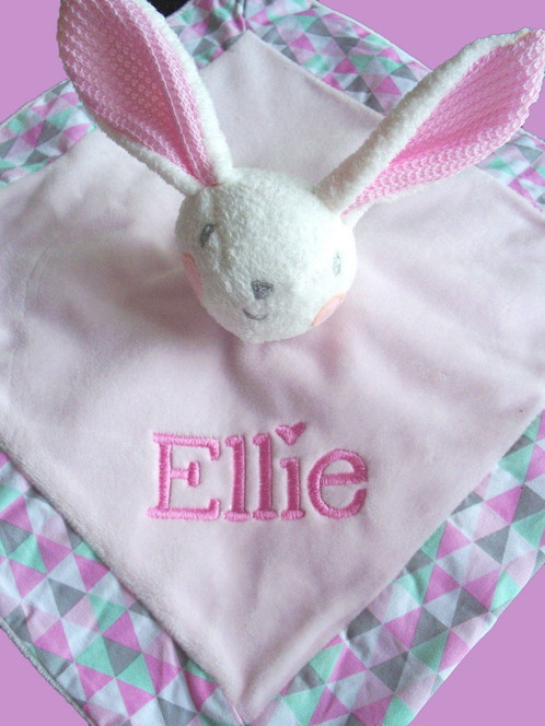 Personalised baby comforter security blanket blankie bunny rattle personalised baby comforter security blanket blankie bunny rattle personalised gifts baby gifts dog gifts christmas gifts australia negle Gallery