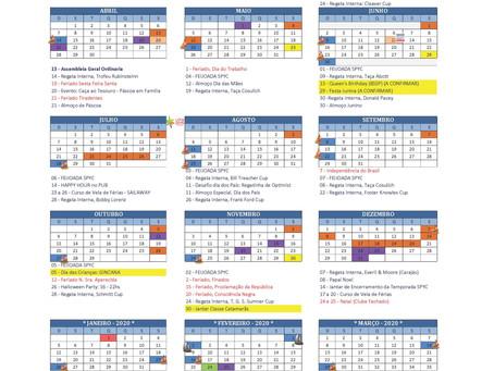 Calendário 2019: Publicado