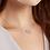 Modern, organic and unusual silver and diamond pendant, handmade by contemporary artisan jeweller, Kate Smith