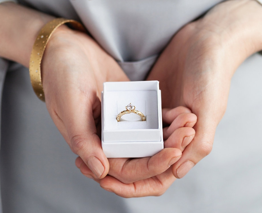 Alternative unique handmade engagement r