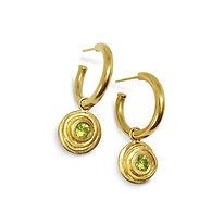 Bespoke Gold & Peridot Hoop Earrings - K