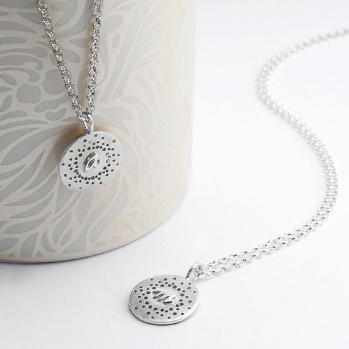 Personalised Necklaces With Patterned Detail by Kate Smith Jewellery. Product code Neck-Br