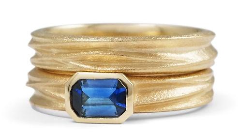 bespoke octagonal handmade gold ring by