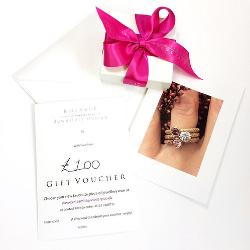 modern jewellery gift voucher by contemporary jeweller Kate Smith Jewellery Design