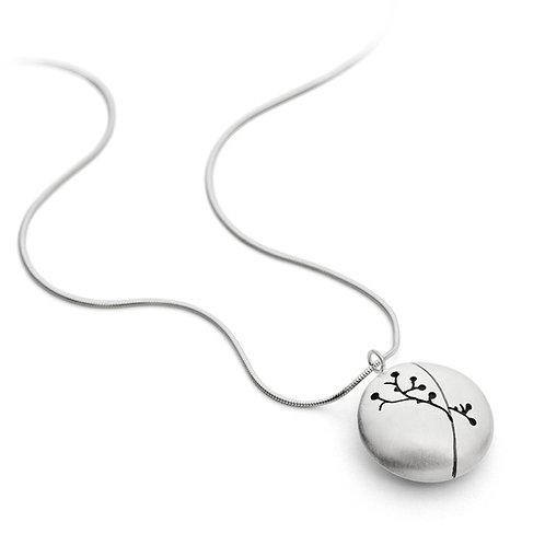 Contemporary, handmade and organic silver pendant by Birmingham jewellery designer Kate Smith.