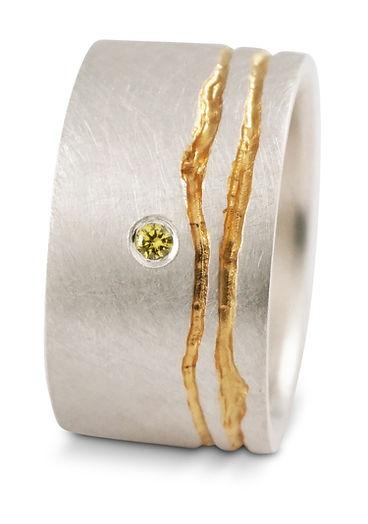 handmade bespoke silver ring, Kate Smith