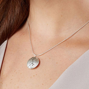 floral silhouette necklace by Kate Smith