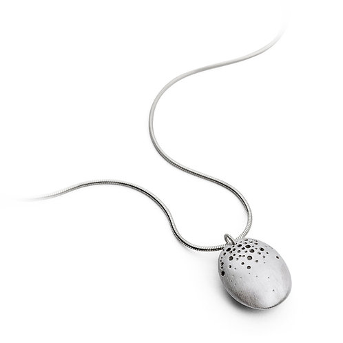 Handmade, organic silver necklace/pandant by Kate Smith Jewellery, in Birmingham's historic Jewellery Quarter
