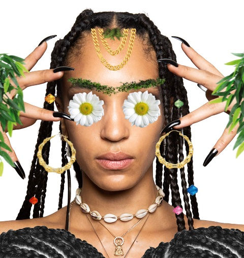 SASSY EARTH QUEEN WITH CORNROW PADS desi