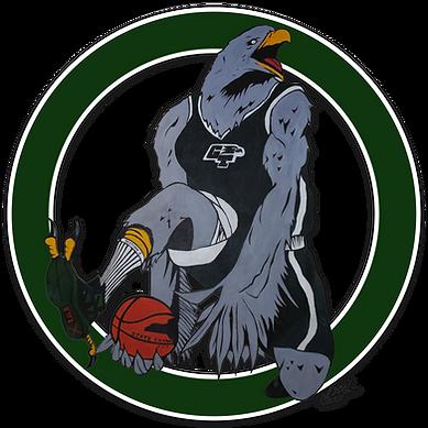 Green Tech Eagle basketball mascot