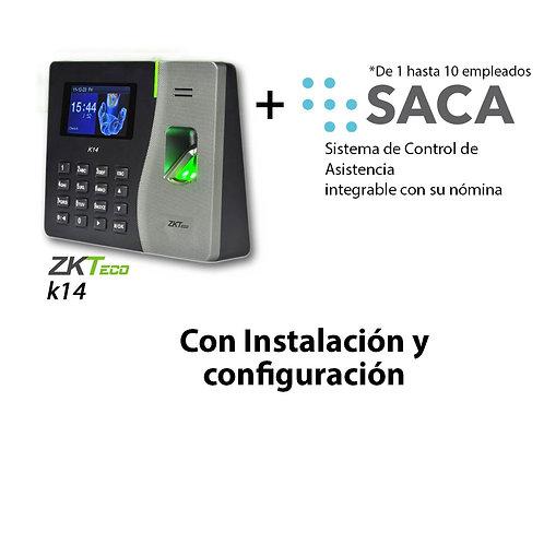 SACA de 1 a 10 Empleados con Biométrico e Instalación
