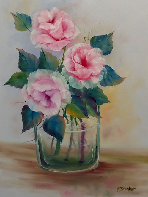 """Three Roses in Water"""