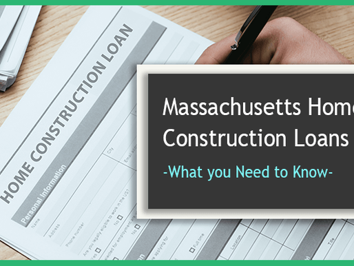 5 Things you Need to Know about Home Construction Loans in Massachusetts