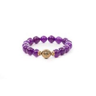 Beaded Bracelet Purple
