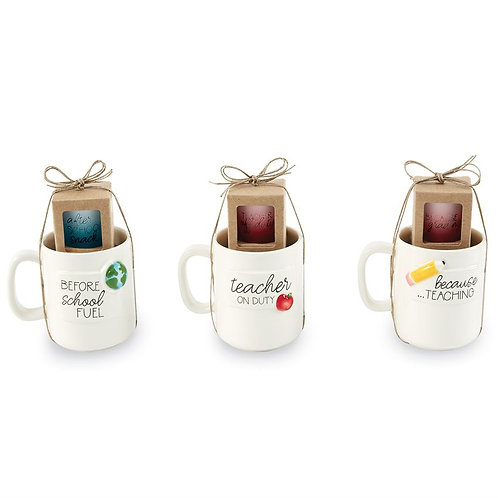Mud Pie Teacher Mug & Shot Glass Set
