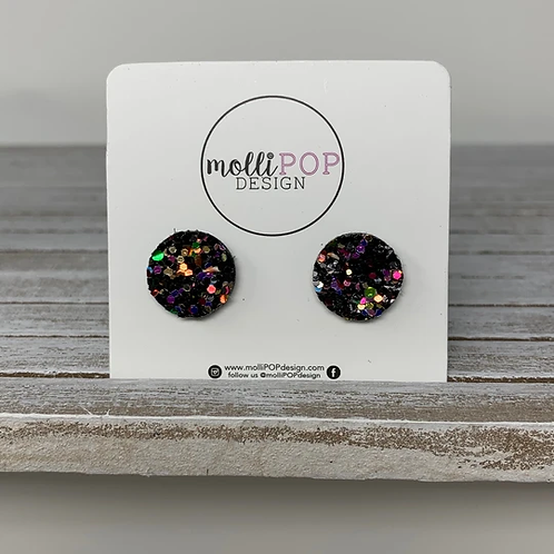 Party Girl Glitter Studs