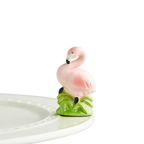 Nora Fleming Mini - Tickled Pink Flamingo