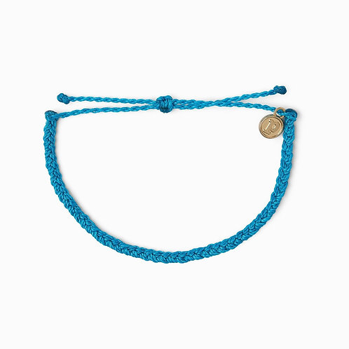 Pura Vida Neon Blue Mini Braided Bracelet