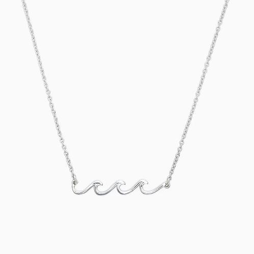 Pura Vida Silver Delicate Wave Necklace