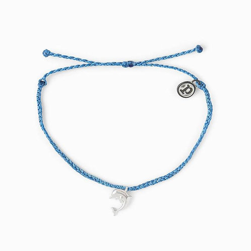 Pura Vida Save the Dolphins Charity Bracelet Blue
