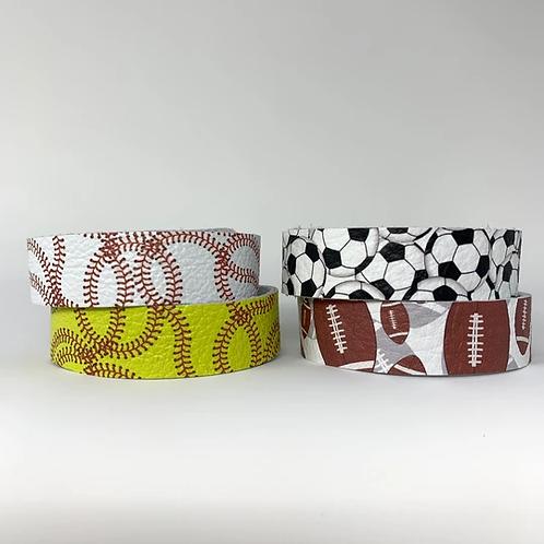 Sports Skinny Cuff Bracelets