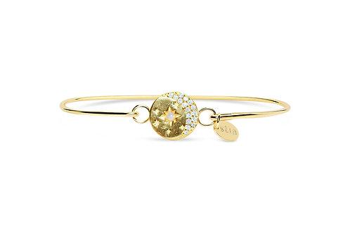 Gold Pave Celestial Moon Bracelet