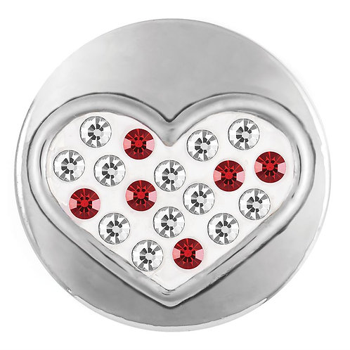 RED AND WHITE SPRINKLE HEART