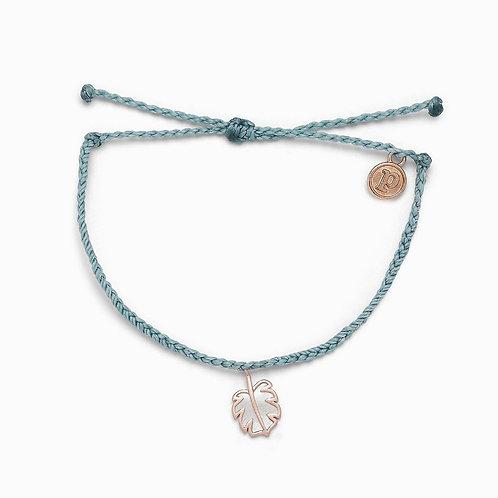 Monstera Smoky Blue Rose Gold Bracelet