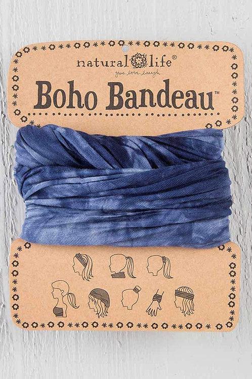 Boho Bandeau Tie Dye Navy & White