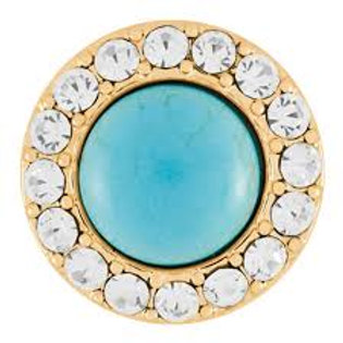 Gold Turquoise Bling Snap