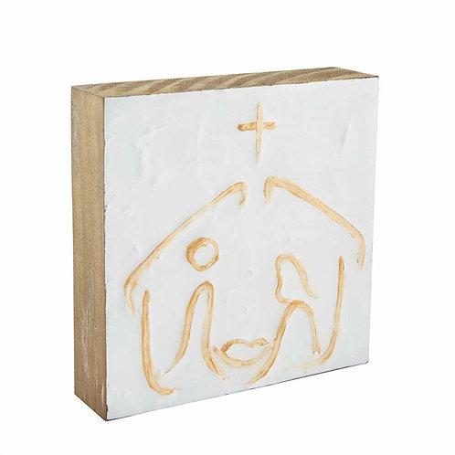 Nativity Block Art