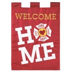 Firefighter Welcome Home Garden Flag