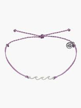 Pura Vida Delicate Wave Silver & Purple Bracelet