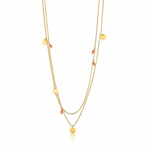 Ania Haie Gold Dotted Double Necklace