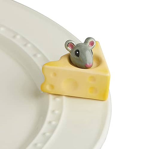 Nora Fleming Mini - Cheese, Please! Mouse