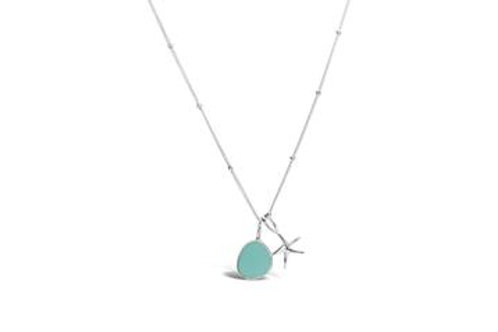 Stia by the Sea Aqua Starfish Sea Glass Necklace