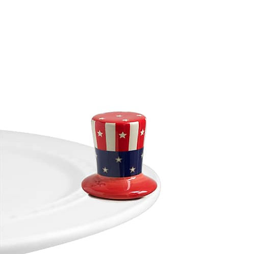 Nora Fleming Mini - Home of the Free Uncle Sam Hat